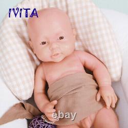 16'' Full Body Soft Silicone Reborn Doll Lifelike Newborn Baby Boy Xmas Gift Toy