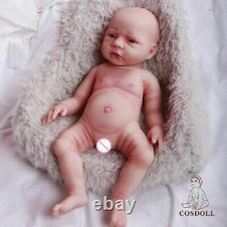 18.5 in Full Soft Platinum Silicone Baby Dolls Handmade Newborn Baby Girl Doll