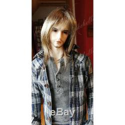 19'' Tall BJD Doll Handsome Boy Male Uncle Body Resin Doll + Eyes + Face Makeup