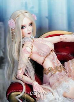 1/3 BJD Doll Elves Girl Human Girl Resin Ball Jointed Doll + Eyes + Face Makeup