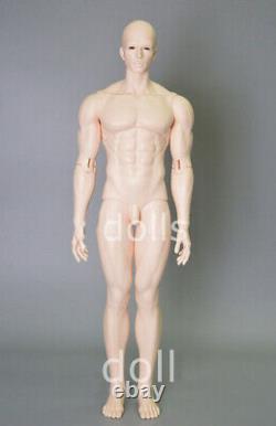 1/3 BJD Doll Male Boy Doll Tan Skin Resin Unpainted Doll + Eyes + Face Makeup