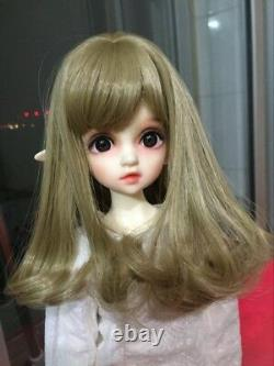 1/4 BJD Doll Ball Jointed Dolls Girl Elf Ears- resin free eyes with face make up