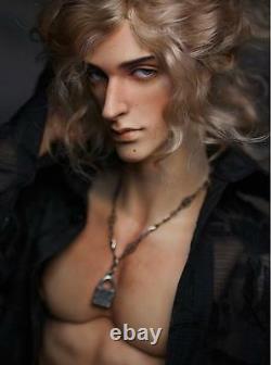 1/4 BJD Doll Boy Man Resin Naked Unpainted Body + Free Eyes + Face Make Up Head