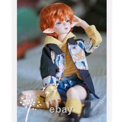1/4 BJD Girl Doll Goblin Head Resin Bare Ball Jointed Doll + Eyes + Face Make up
