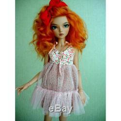 1/4 BJD Girl Dolls 16.5in Tall Resin Unpainted Doll + Random Eyes + Face Makeup