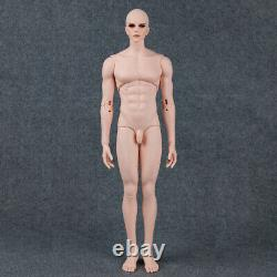 1/4 BJD SD Dolls 19in Handsome Boy Male Resin Bare Doll + Eyes + Face Makeup