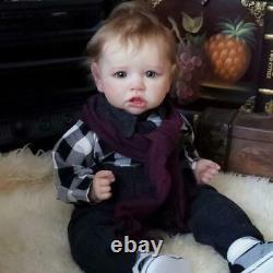 22 Realistic Newborn Baby Soft Full Body Silicone Reborn Doll Boy Birthday Gift