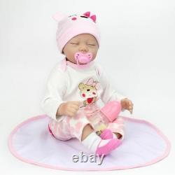 22'' Twins Lifelike Newborn Babies Silicone Vinyl Reborn Baby Girl+Boy Dolls US