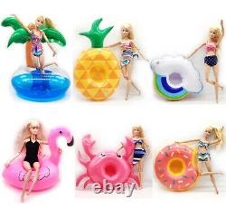 3 Barbie or LOL Doll Inflatable Floats Swimming Pool Doll Furniture