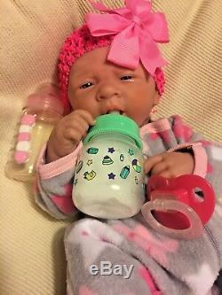 AWW! PERFECT BABY GIRL! Berenguer LifeLike Newborn Reborn Pacifier Doll +Extras