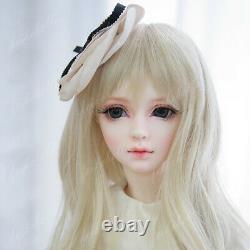 BJD 1/3 Doll Girl Bare Tan Skin Jointed Doll + Eyes+ Face Makeup & Elves Ears