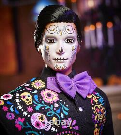Barbie 2021 Ken Dia De Los Muertos Day of The Dead Doll Mattel - IN HAND