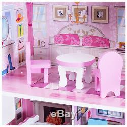 Barbie Dream House Size Dollhouse Furniture Girls Playhouse Fun Play Townhouse