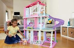 Barbie Girls 3 Storey Doll Dream House Play Set with 70+ Accessory Pieces FHY73