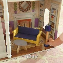 Barbie Size Wooden Dollhouse Furniture Doll Girls Playhouse Play House 13pc NEW