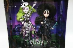 Beetlejuice & Lydia Deetz Monster High Skullector Doll 2-Pack IN HAND