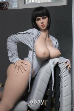Big Boob TPE Adult Toys Full Body with Skeleton BBW Sex Doll for Men Tan Skin