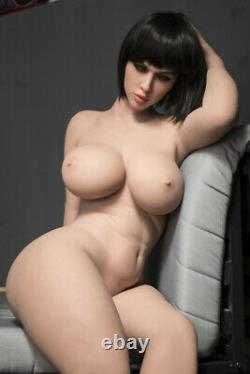 Big Boob TPE Adult Toys Full Body with Skeleton Sex Doll for Men Tan Skin 163cm
