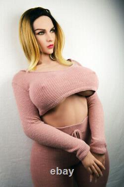 Big Boob TPE Adult Toys Full Body with Skeleton Sex Doll for Men Tan Skin -2