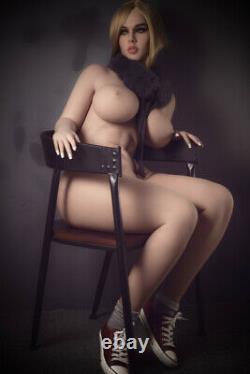 Big Boob TPE Adult Toys Full Body with Skeleton Sex Doll for Men Tan Skin -3