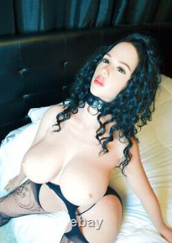 Big Boob TPE Adult Toys Full Body with Skeleton Sex Doll for Men Tan Skin -5