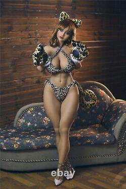 Big Boob TPE Adult Toys Full Body with Skeleton Sex Doll for Men Tan Skin bbw