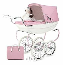 Brand New Silver Cross Princess Doll Pram Stroller with Doll and Changing Bag