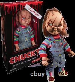 Child's Play 15 Scarred TALKING CHUCKY Mega scale figure with sound MEZCO Doll