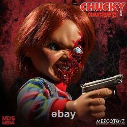 Child´s Play 3 Designer Series Talking Pizza Face Chucky Doll 38 cm Mezco