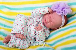 Crying American Reborn Baby Alive Girl Doll Vinyl 14 Newborn Preemie Life like