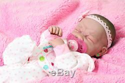Crying American Reborn Baby Girl Doll Vinyl Silicone Newborn Preemie Life like