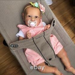 Custom Reborn Bonnie Brown Saskia doll Amanda Hannon MarksChrysalis Meadows