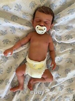 Custom order Bridger, super soft full body solid silicone newborn baby boy doll