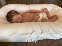 Custom order full body solid silicone newborn baby boy doll Forest sculpt