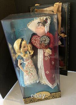 Disney Store Alice & Queen of Hearts Fairytale Designer Limited Edition Doll Set
