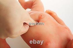 Eyes Closed Reborn Baby Girl Doll Full Body Soft Silicone Preemie Gift