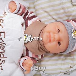 Full Body Silicone Reborn Baby Doll Girl Alive Preemie Newborn Birthday Gift