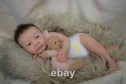Full Body Soft Solid Silicone Baby doll boy /REBORN SILICONA fluid sealed hair