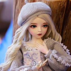 Full Set 60cm BJD Doll 1/3 Fashion Girl With Changeable Eyes Wigs Clothes Outfit