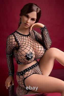 Huge Boob TPE Adult Toys Full Body with Skeleton Sex Doll for Men Tan Skin 170cm