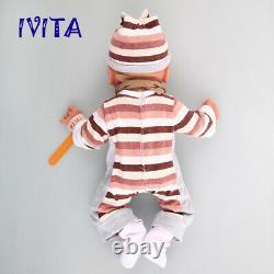 IVITA 14'' Full Body Silicone Reborn Dolls Realistic Baby Boy OOAK Toy Xmas Gift