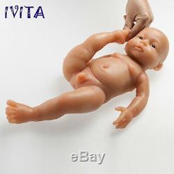 IVITA 16''(41cm) Full Body Silicone Reborn Baby BOY Realistic Doll Cute Toy