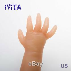 IVITA 18'' Eyes-closed Baby Doll BOY Full Body Soft Silicone Lifelike Reborn