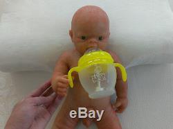 IVITA 18'' Reborn Boy Dolls Realistic Silicone Reborn Baby Can Take a Pacifier