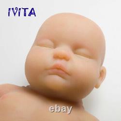 IVITA 18'' Sleeping Infant Silicone Reborn Baby Doll Eyes Closed Girl Baby