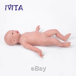 IVITA 19'' Handmade Reborn Silicone Doll Realistic Big Eyes Baby Girl 3600g