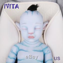 IVITA 20 Inch Avatar Silicone Reborn Doll Realistic Silicone Baby Girl 2900g