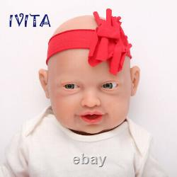 IVITA 23'' Adorable Reborn Baby GIRL Full Body Silicone Doll Kids Playmate Toys