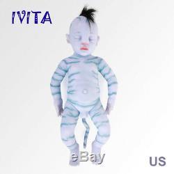 IVITA 25'' Avatar Full Silicone NewBorn Baby Doll 7600g Realistic Silicone Doll