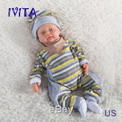 IVITA Reborn Baby Doll Boy Realistic Infant FULL BODY SILICONE With A Pacifier